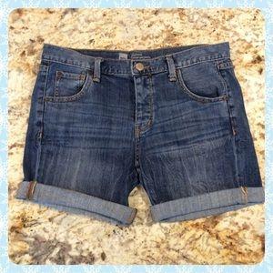 Chic denim button up Boyfriend Shorts